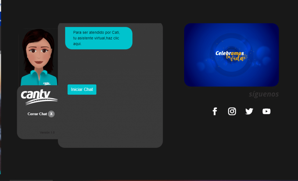 asistente virtual de Cantv